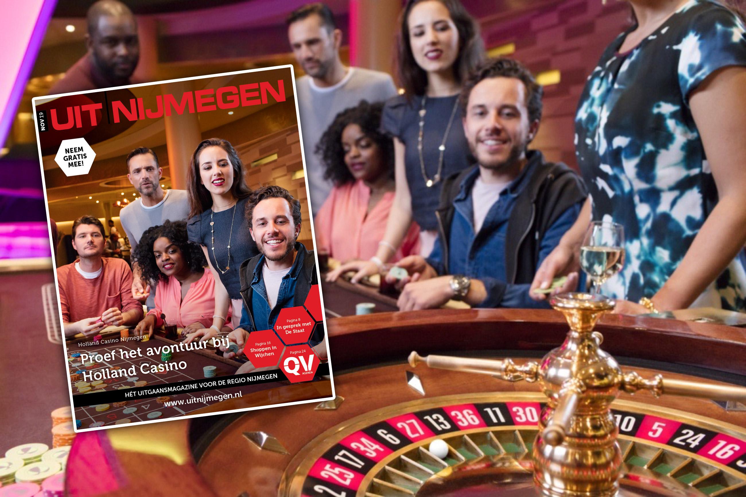 De november editie is UIT: Proef het avontuur bij  Holland Casino